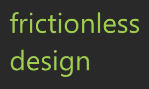 frictionless design logo