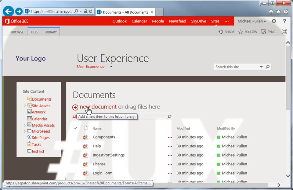 Sharepoint Add New Document