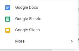 Google Drive New Doc