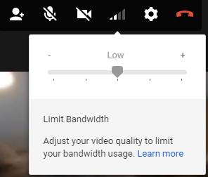 Google HangOuts Bandwidth Adjuster